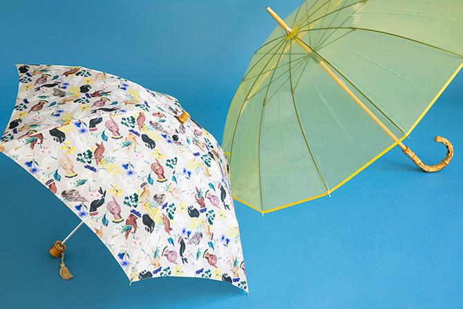 フェイラーの傘とトラディショナル ウェザーウェアの傘