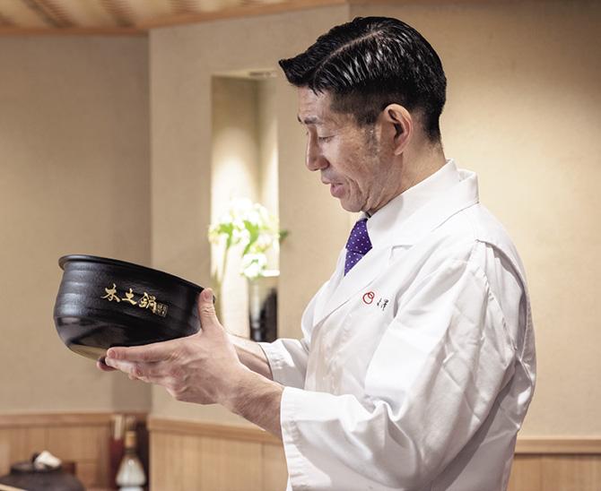 日本料理店「よし澤」ご主人の吉澤定久さん