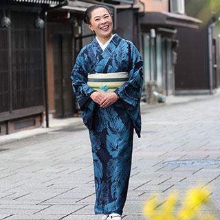 女優の柴田理恵さんが綴るきもの日記 日日是笑日