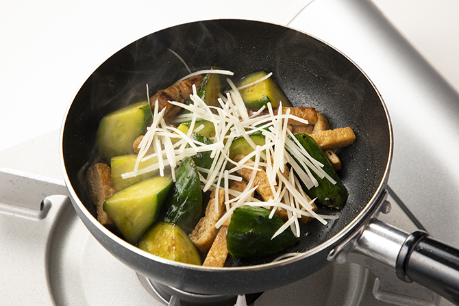 胡瓜の炒め煮 野菜料理のちょっとしたコツ 六雁
