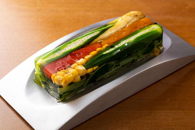 夏野菜の煮こごり