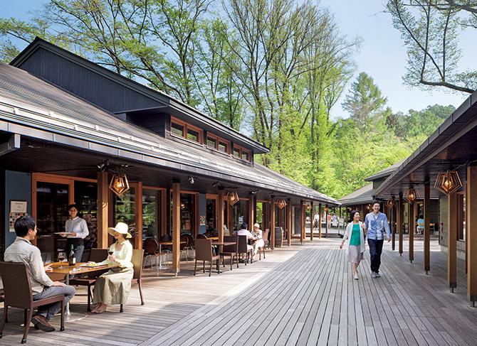 軽井沢通も通う森林浴&ショッピングの小さな町
