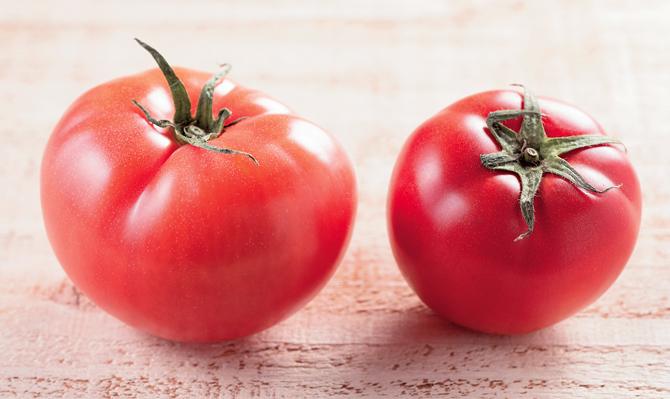 完熟トマトの見分け方