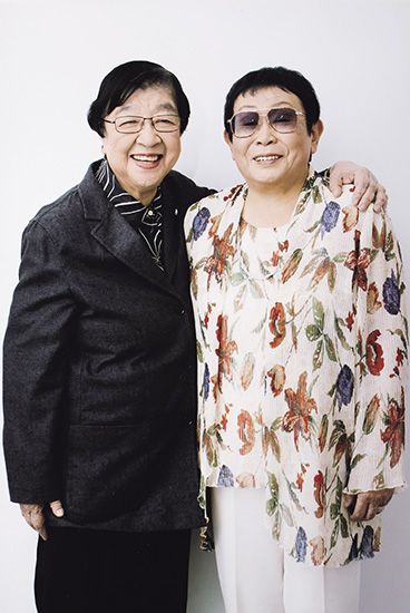 石井ふく子さんと橋田寿賀子さん