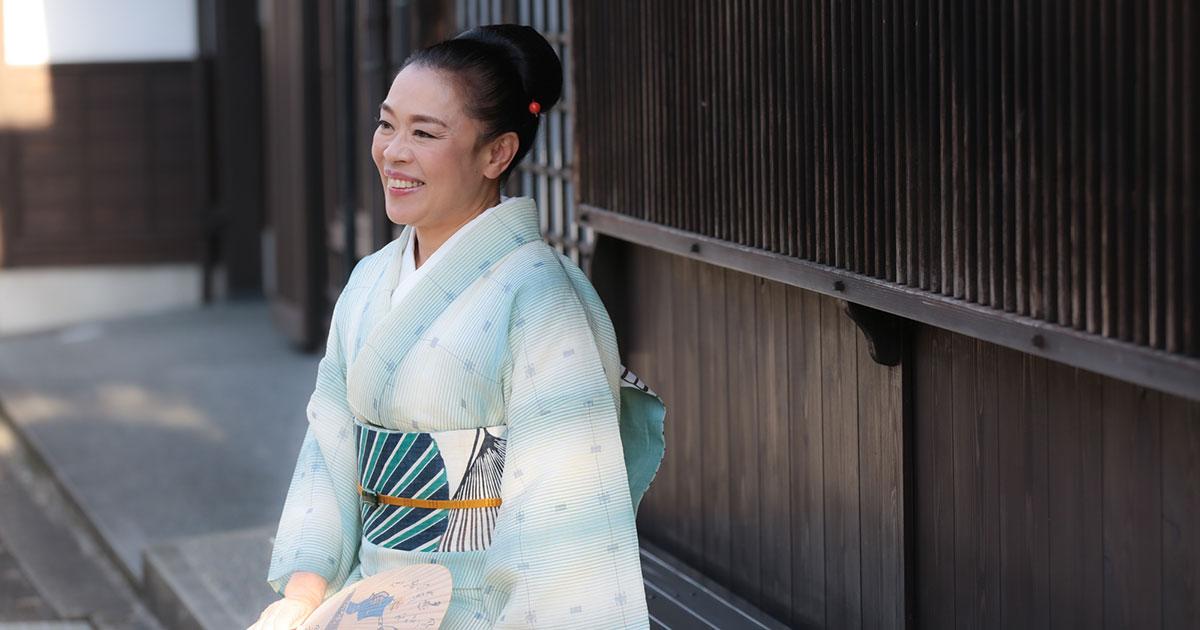 """柴田理恵のきもの遊び 「日日是""""笑""""日」"""
