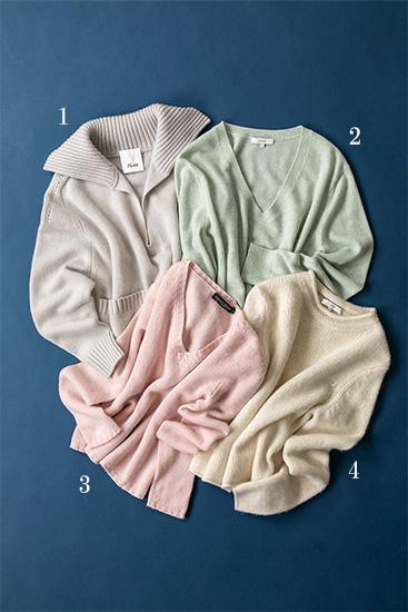 カシミヤ100%のセーター