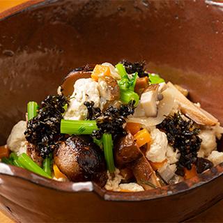 秋のいり豆腐