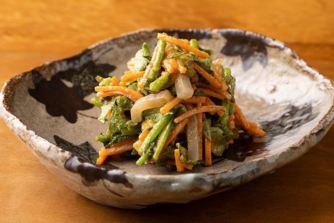 くるみの飴煮、秋野菜のくるみ和え