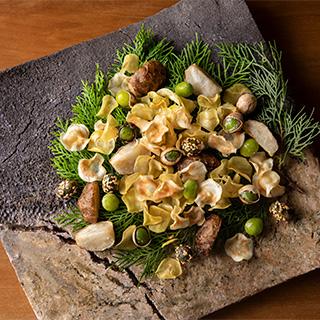 菊いも、ぎんなん、むかごを使った、どこか懐かしい素朴な料理